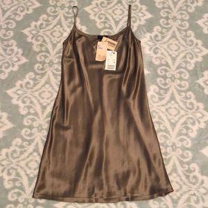 100% Silk Elements by Escada Kleid Slip Dress